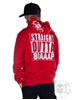 eXc S O Braaap  Men Zip Hoodie Red N White