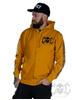 eXc E A F Men Zip Hoodie, Mustard/Black