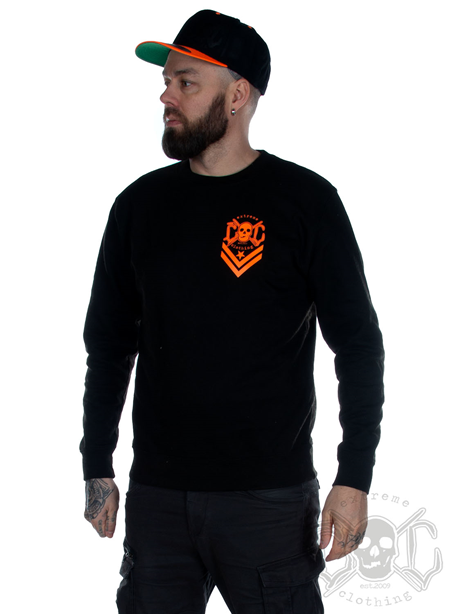 eXc Logo Sweatshirt Unisex, Black/Orange