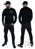 Rebel For Life Bat Unisex Sweatshirt, Black