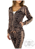 Mix From Italy Leopard stripe Dress