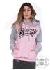 eXc Baseball Unisex Hoodie Pink N Grey