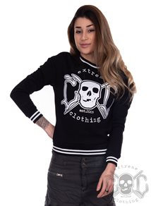 eXc College Sweatshirt Black N White