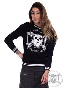 eXc College Sweatshirt Black N White