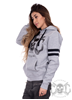eXc Game Day Skull Hoodie Unisex, Grey N Black