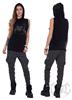eXc Sleeveless Unisex Muscle Hoodie, Black N Black