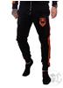 eXc 2 Stripe Velour Pants, Black N Orange
