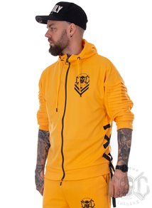 eXc Ribbon 3/4 Sleeves Hoodie, Yellow