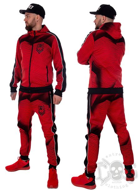 eXc Tracksuite Set Red N Black