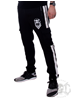 eXc Black N White Unisex Cargo Sweatpants