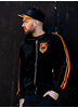 eXc 2 Stripe Velour Hoodie, Black N Orange