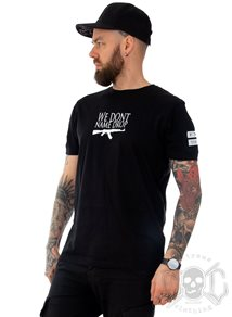 Rebel For Life We Don´t Name Drop Men Tee, Svart