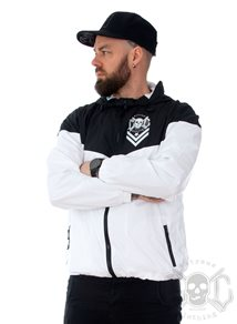 eXc Logo Unisex WindJacket, Black N White