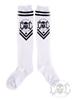eXc New Logo Socks, White