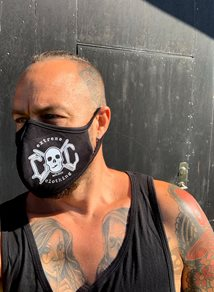 eXc Antimicrobial washable Skull face mask , Black