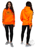 Dirty Dirty Unisex Hoodie, Neon Orange