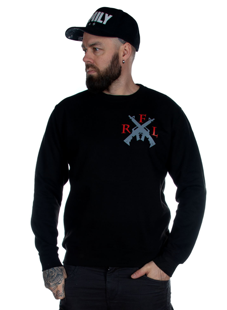 Rebel For Life AK47 Unisex Sweatshirt, Black