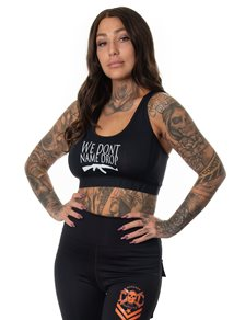 Rebel For Life Name Drop Sport top, Black