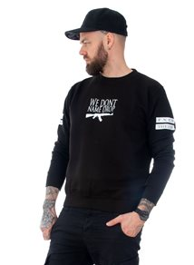 Rebel For Life We Don´t Name Drop Unisex Sweatshirt, Svart