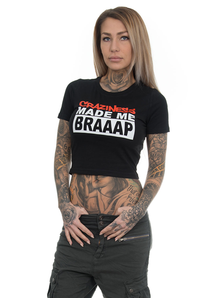 eXc Craziness Cropped Tee, Black