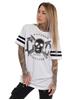 eXc Skull Striped Jersey Unisex Tee, White