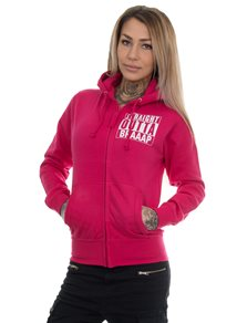 eXc S O Braaap Girly Zip Hoodie, Hot Pink