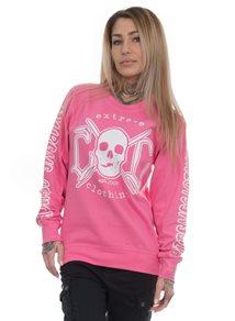 eXc E A F Unisex Sweatshirt, Baby pink