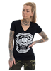 eXc Moto Club V-neck Tee, Black