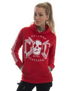 eXc E A F Hoodie, Red