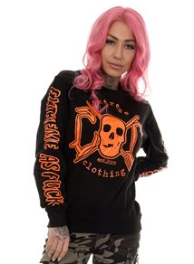 eXc E A F Unisex Sweatshirt Black N Orange