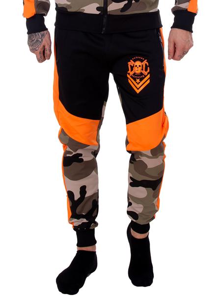 eXc Tracksuite Pants Camo n Orange