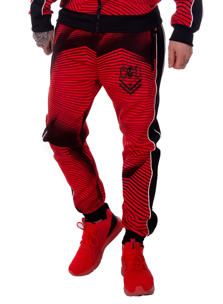 eXc Tracksuite Pants Red N Black
