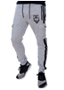 eXc Grey N Black Unisex Cargo Sweatpants