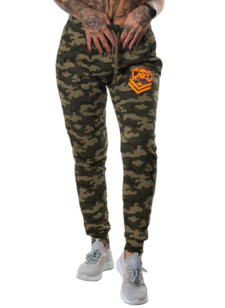 eXc Orange skull Camo Sweatpants Unisex