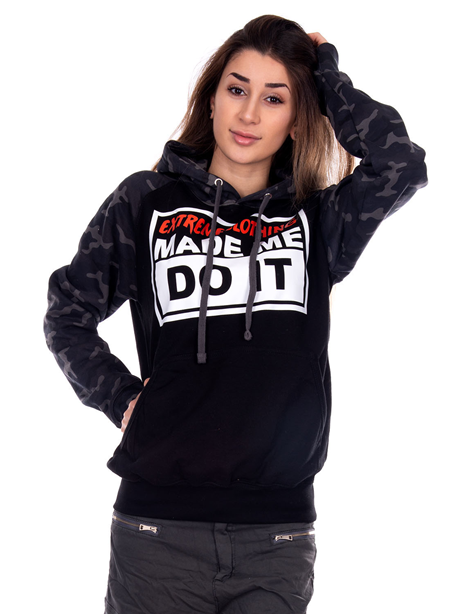 eXc Made Me DO It Black N Camo Unisex Hoodie
