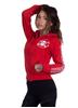 eXc E A F Zip Logo Hoodie Red/White