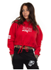 Rebel For Life We Don´t Name Drop Cropped Oversize Hoodie, Red