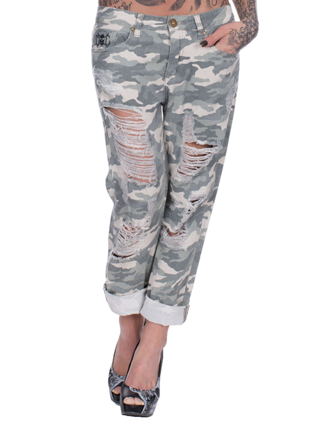 eXc Scratched Army Pants