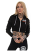 Rebel For Life Defend Your Family Short Hoodie, Black