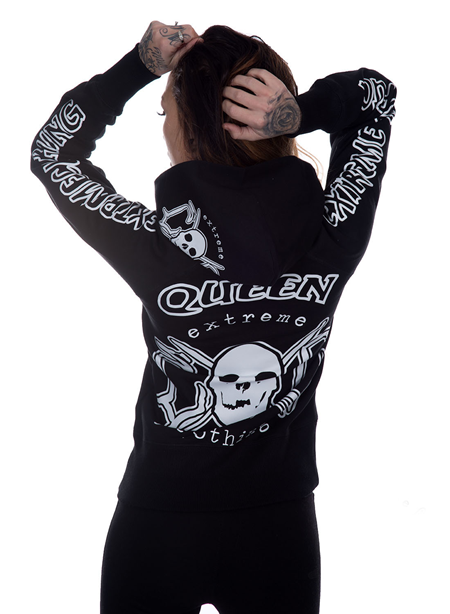eXc Queen Hoodie, B/W