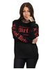 Dirty Dirty Unisex Sweatshirt, Black N red