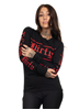 Dirty Dirty Unisex LS tee, Black N red