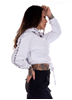 Dirty Chill Cropped Hoodie, White