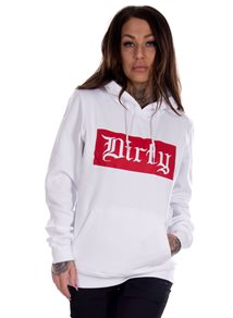 Dirty White N Red Unisex Hoodie