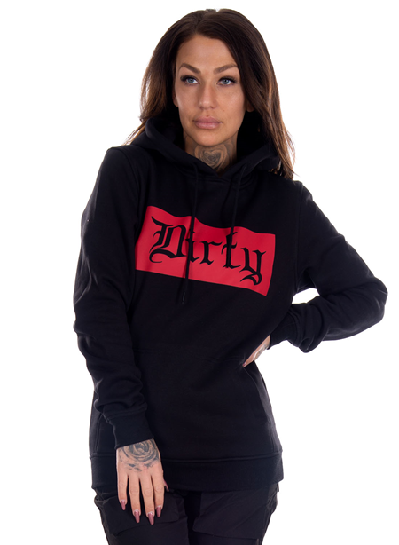 Dirty Black N Red Unisex Hoodie