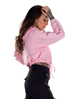 Dirty Chill Cropped Hoodie, Pink