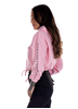 Dirty Chill Cropped Hoodie, Rosa