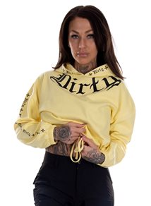 Dirty Chill Cropped Hoodie, Yellow