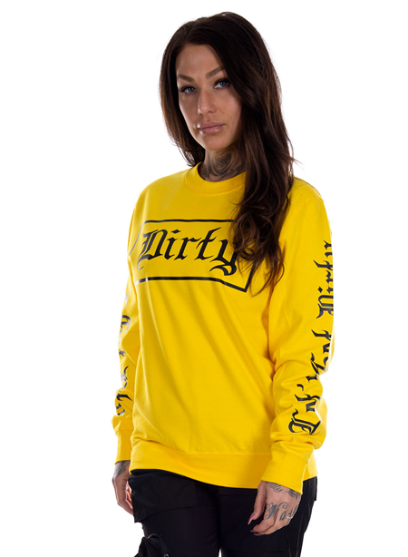 Dirty Dirty Unisex Sweatshirt, Yellow