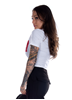 Dirty Dirty Cropped Top, White N Red